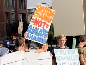 Youth activists at the Climate Change protest 24 May 2019